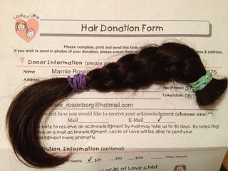 Locks of Love Donation