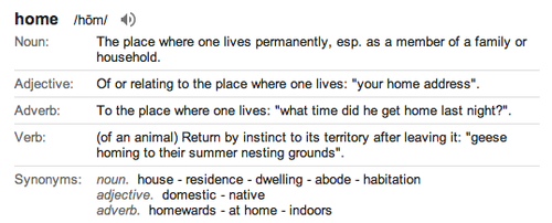Home-definition